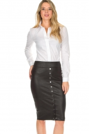Dante 6 |  Leather skirt Lonestar | black  | Picture 6