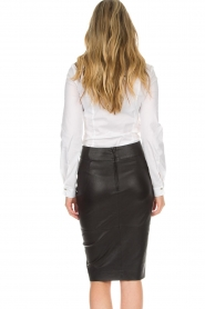 Dante 6 |  Leather skirt Lonestar | black  | Picture 5