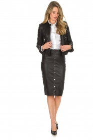 Dante 6 |  Leather skirt Lonestar | black  | Picture 3