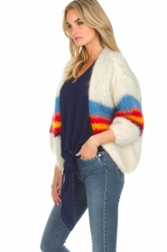 Les tricots d'o |  Wool cardigan Lily | white  | Picture 5