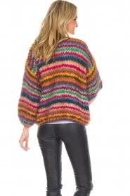 Les tricots d'o | Woolen cardigan Fleur | multi  | Picture 6