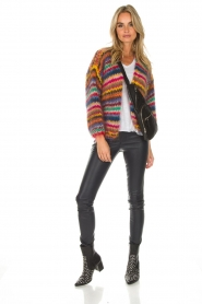 Les tricots d'o | Woolen cardigan Fleur | multi  | Picture 3