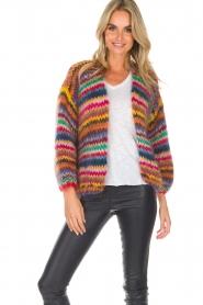Les tricots d'o | Woolen cardigan Fleur | multi  | Picture 4