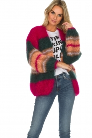 Les tricots d'o |  Wool cardigan Ibana | pink  | Picture 2