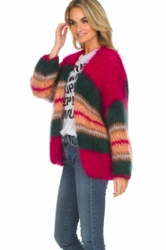 Les tricots d'o |  Wool cardigan Ibana | pink  | Picture 5