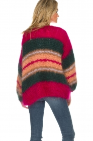 Les tricots d'o |  Wool cardigan Ibana | pink  | Picture 6