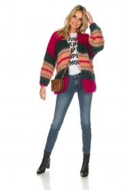 Les tricots d'o |  Wool cardigan Ibana | pink  | Picture 3