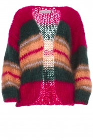 Les tricots d'o |  Wool cardigan Ibana | pink  | Picture 1