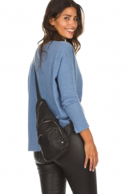 Depeche |  Leather shoulder bag Alessia | black  | Picture 4