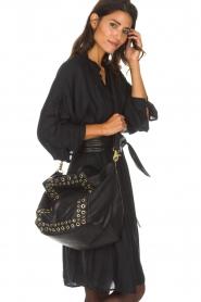 Depeche | Leren schoudertas Lisa | zwart  | Afbeelding 2