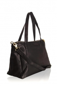 Depeche |  Leather shoulder bag Louise | black  | Picture 3