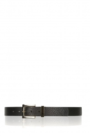Depeche |  Leather belt Michelle | black