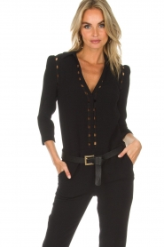 Depeche |  Leather belt Michelle | black  | Picture 2