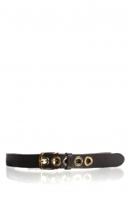 Depeche |  Leather belt Susanne | black  | Picture 1