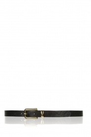 Depeche |  Leather belt Danique | black  | Picture 1