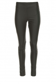 Knit-ted |  Faux leather leggings Amber | grey  | Picture 1