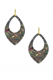 Miccy's |  Earrings Sequins Drop | grey  | Picture 1