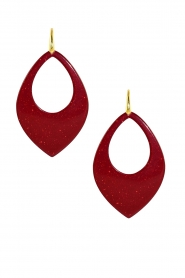 Miccy's |  Earrings Moondust Drops | red  | Picture 1