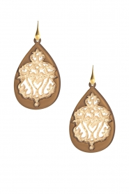 Miccy's |  Earrings Tan Drops | gold  | Picture 1
