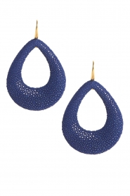 Miccy's |  Earrings Large Open Drops | blue  | Picture 1