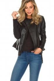 Dante 6 |  Leather biker jacket Osiris | black  | Picture 2