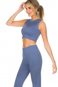 Varley |  Sports bra with cut-out details Langley | blue  | Picture 4