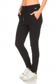 D-ETOILES CASIOPE |  Wrinkle free stretch pants Phe Plus | black  | Picture 4