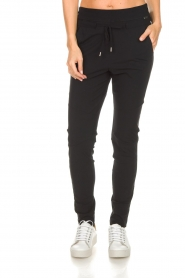 D-ETOILES CASIOPE |  Wrinkle free stretch pants Phe Plus | black  | Picture 3