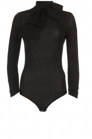 ELISABETTA FRANCHI |  Glitter body with bow Bibi | black  | Picture 1