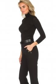 ELISABETTA FRANCHI |  Glitter body with bow Bibi | black  | Picture 5
