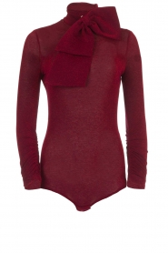ELISABETTA FRANCHI |  Glitter body with bow Bibi | red  | Picture 1