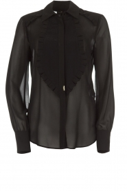 ELISABETTA FRANCHI |  Blouse with ruffles Filomena | black  | Picture 1