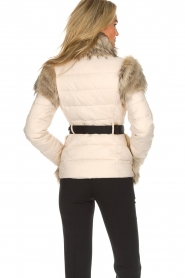 ELISABETTA FRANCHI |  Down jacket with faux-fur Victoria | natural  | Picture 6