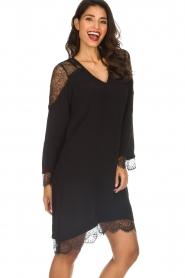 Hale Bob |  Dress with lace details Margaret | black  | Picture 4