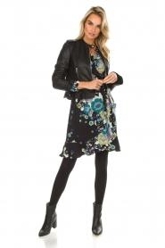 Hale Bob | Overslag jurk met bloemenprint Allison | zwart  | Afbeelding 3