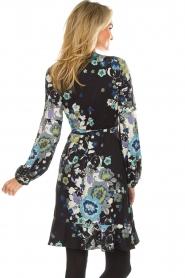 Hale Bob | Overslag jurk met bloemenprint Allison | zwart  | Afbeelding 6