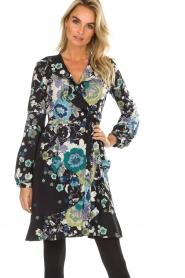 Hale Bob | Overslag jurk met bloemenprint Allison | zwart  | Afbeelding 2