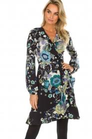 Hale Bob | Overslag jurk met bloemenprint Allison | zwart  | Afbeelding 4