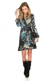Hale Bob |  Wrap dress with floral print Allison | black  | Picture 3