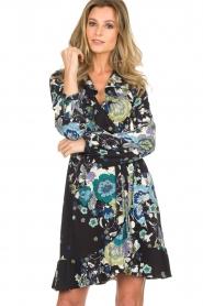 Hale Bob |  Wrap dress with floral print Allison | black  | Picture 2