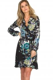Hale Bob |  Wrap dress with floral print Allison | black  | Picture 4