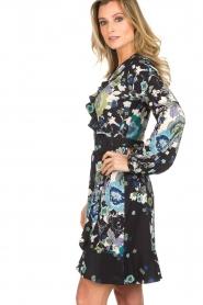 Hale Bob |  Wrap dress with floral print Allison | black  | Picture 5