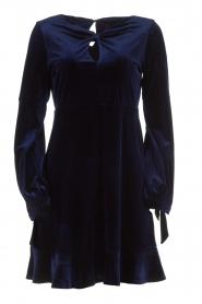 Hale Bob |  Velvet dress Emily | navy  | Picture 1
