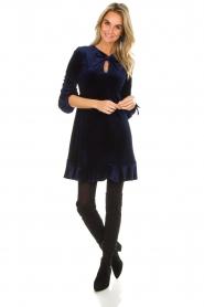 Hale Bob |  Velvet dress Emily | navy  | Picture 3
