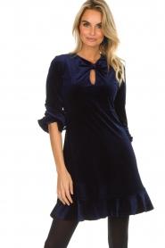 Hale Bob |  Velvet dress Emily | navy  | Picture 6