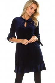 Hale Bob |  Velvet dress Emily | navy  | Picture 5