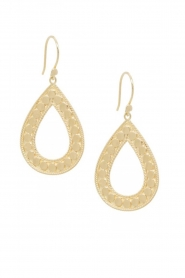Close to Zen |  22k gold plated earrings Open Heart | gold  | Picture 2
