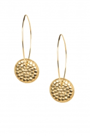 Close to Zen |  22k gold plated earrings Down The Earth | Gold  | Picture 2