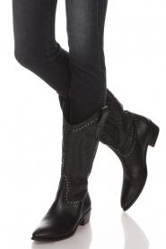 Toral | Leren laarzen Jamy | zwart  | Afbeelding 3
