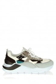 D.A.T.E |  Sneakers with zebra print Fuga   | Picture 1